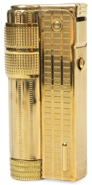 Photo1: MCO Classic Stylish Design Oil Lighter Super 6700P Brass Gold Color Cool (1)