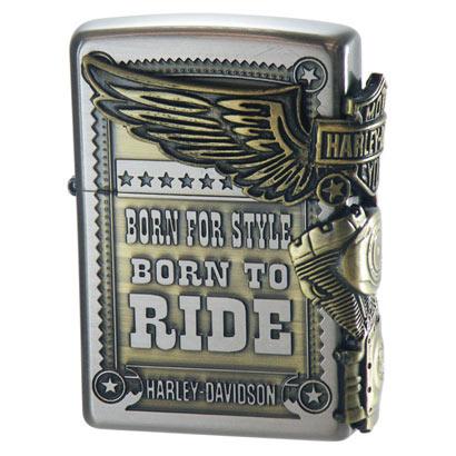 Zippo Harley Davidson Gold Silver Metal Paste HDP-27 Oil Lighter Japan Limited